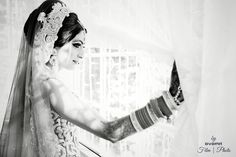 Bride moments before her wedding ceremony