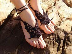 Crochet Butterfly BLACK