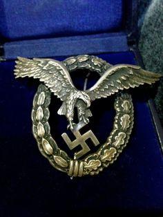WWII Genuine Luftwaffe Pilot's Badge by BlackCatBoneVintage, $875.00
