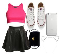 """""""night with bffs"""" by lexiekelly on Polyvore featuring Pilot, Native Union, Converse and Lipsy"""