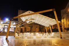Gazebo Liama Est by Sprech design Francesco Spada Pergola Attached To House, Pergola With Roof, Covered Pergola, Pergola Shade, Patio Roof, Pergola Plans, Diy Pergola, Pergola Kits, Pergola Ideas