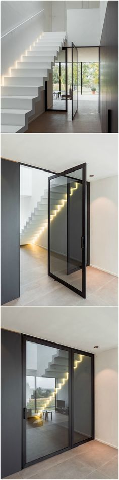 Stairs And Doors, House Stairs, Home Interior Design, Interior Architecture, Interior And Exterior, Modern Staircase, Staircase Design, Home Bedroom, Home Decor Inspiration
