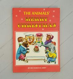 The Animals' Merry Christmas by Richard Scarry published 1969 stories by Kathryn Jackson Pictures by Richard Scarry Large hardcover, 76 pages measures x In excellent condition nice clean pages. Richard Scarry, Illustrator, Merry Christmas, Handmade Gifts, Books, Animals, Etsy, Art, Merry Little Christmas