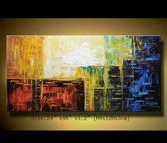 Original Abstract Painting Modern Textured Painting by xiangwuchen, $188.00