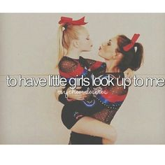 I was a cheerleader then my sister joined cheer so now I'm coaching I love that they r always wanting to be around me Awwwwwwwwww so cute Cheerleading Tattoos, Cheerleading Quotes, Cheer Quotes, Cheer Stunts, Cheer Dance, Cheerleading Crafts, Cheer Sayings, All Star Cheer, Cheer Mom
