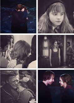 Ron and Hermione. LOVE the bottom left pic Harry Potter Cursed Child, Harry Potter Disney, Harry And Hermione, Harry Potter Hermione, Harry Potter Love, Harry Potter Memes, Ron Weasley, Hermione Granger, Wizards