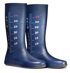 Measure the rain level with your boots.. creative