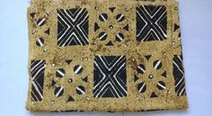 African Authentic Mud Cloth Bambara Bogolanfini  Mali Handmade  Handwoven Art Brown/Black/Rust by TrybLife on Etsy