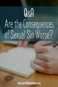 Scripturally, is there a greater significance or consequence to sexual sin than there is to other sinful activities?