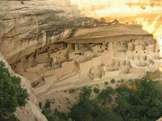 Mesa Verde, in southwestern Colorado, is home to the famous cliff dwellings of the ancient Anasazi people. It may be the most significant archeological preserve of Native American culture in the US. In the 12th century, the Anasazi start building houses in shallow caves and under rock overhangs along the canyon walls. Some of these houses were as large as 150 rooms. The most famous of these are called Cliff Palace and Spruce Tree House. By 1300, all of the Anasazi had left the Mesa Verde…