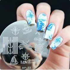 Sailors & Sea Sailing Theme Nail Art Stamp Template Image Plate Born Pretty #33