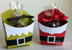 Elaine's Creations: Elf & Santa Fry Boxes
