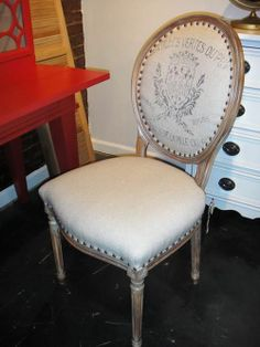 French Laundry upholstered dining chair.