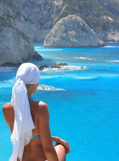 Enjoying the view - Porto Katsiki, Lefkada Greece www.housination.com