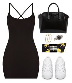 """""""Are you scared to let them know it's you?"""" by hosana-tsarnaev ❤ liked on Polyvore featuring HUF, adidas Originals, Givenchy, Rolex and Pieces"""