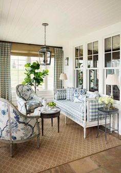lazy way to spend the summer on this stunning porch redo.