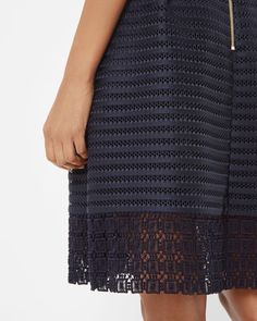71bf672fc868b Ted Baker Skirt Lotee in Navy with sophisticated mesh finish €225 Tint