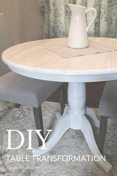 DIY Table Transformation #DIY #PaintedFurniture