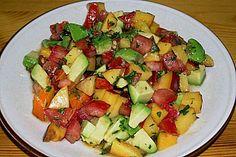 Sommersalat mit Avocado, Tomate und Nektarine | Chefkoch.de