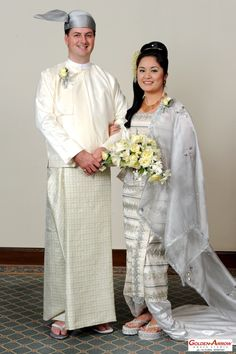 Our Burmese wedding outfits