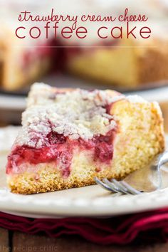 Strawberry Cream Cheese Coffee Cake #recipe