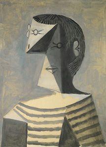Buste d'homme en tricot rayé - Picasso - Peggy Guggenheim - Venecia.