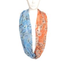 chiffon scarf, fashion shawl, handmade scarves, silk scarf, winter scarf, print scarves, womens gift, autumn scarf, flowers scarf, head scarf,