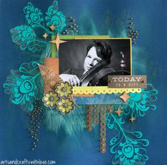 Scrapbook layout for Allt Om Scrap DT: Today is a gift
