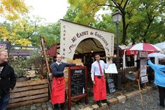 Happy waiters at Place du Tertre, Montmartre, Paris