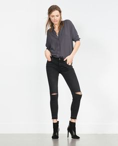 Image 1 of SKINNY TROUSERS MID-RISE from Zara