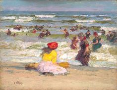 Edward H. Potthast (American, 1857-1927) - In the Surf, c. 1910