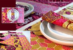 Thanksgiving Traditions: Heirloom Placemats, Free Spirit Artist Trio. Sew 4 Home - great site with lots of projects and tutes