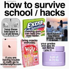 School Hacks School Hacks More from my site Clever DIY life hacks every girl should know! For organization, crafts, ideas, b… DIY Life Hacks & Crafts : Life hack- school hack get the best grades Middle School Hacks, High School Hacks, Life Hacks For School, School Study Tips, High School Essentials, High School Supplies, School Goals, School Kit, Back To School Emergency Kit