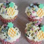 Mini cupcakes de piña