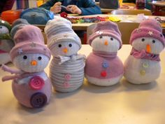 Bonhomme de neige chaussette                                                                                                                                                                                 Plus