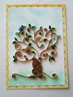 quilled tree-this one is way better than mine.