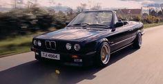 BMW cabriolet by John Peden Bmw E30 Cabrio, Bmw E30 Convertible, Cabriolet, Euro, Wheels, Nice, Inspiration, Vintage, Style
