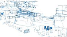 ArtStation - HMS RODNEY, Carlo Cestra Model Warships, Boat Projects, Royal Navy, Battleship, Wwii, Diagram, Mountain Biking, Drawings, Artwork