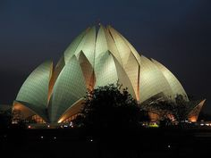 The Lotus Temple, located in New Delhi, India, is a Bahá'í House of Worship completed in 1986. Notable for its flowerlike shape, it serves as the Mother Temple of the Indian subcontinent and has become a prominent attraction in the city!