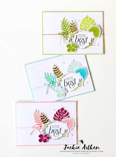 Jaxx Crafty Creations: Tropical Chic Bundle with Floral Frames