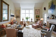 The focal point of the living room in the Southern Living Idea House was a giant window which looked out onto the Virginia countryside. Beautiful!