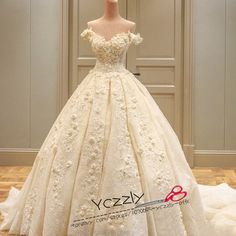 Luxury+Dubai+Ball+Gown+Puffy+Long+Lace+Wedding+Dresses+2017+Real+Off-shoulder+Flowers+Crystal+Bridal+Gown+Vestido+De+Noiva 2.+Size:+standard+size+or+custom+size,+if+dress+is+custom+made,+we+need+to+size+as+following bust______+cm/inch waist______cm/inch hip:_______cm/inch hollow+to...