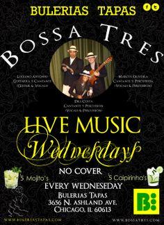 Live Music Every Wednesday @ Bulerias Tapas Chicago