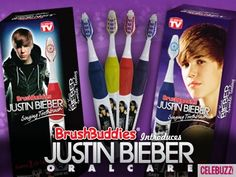 Justin Bieber SINGING toothbrushes.  Oh dear Lord ... make it stop.