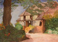 Created by Helena Clulee - watercolour - Exbury Gardens Dorset