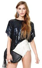 PALACEOFCHIC | SEXY FASHION Loose Sequins Tops
