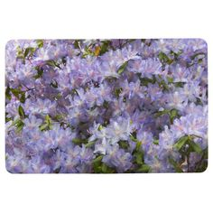 Purple Rhododendrons Floral Floor Mat