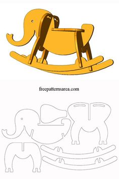 Rocking Elephant CNC Router Plans Wood Rocking Horse Idea