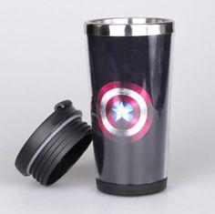 captain america stainless steel mug