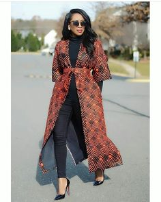 african fashion ankara This Stylish African print Kimono jacket is ideal for every occasion. This jacket is also available in other prints, this jacket can be made in sizes US 0 African Fashion Ankara, African Inspired Fashion, Latest African Fashion Dresses, African Dresses For Women, African Print Dresses, African Print Fashion, Africa Fashion, African Attire, African Wear